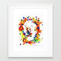 marylin monroe Framed Art Prints featuring Marylin Monroe by Psyca