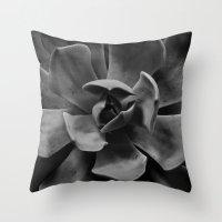 succulent Throw Pillows featuring succulent by Bonnie Jakobsen-Martin