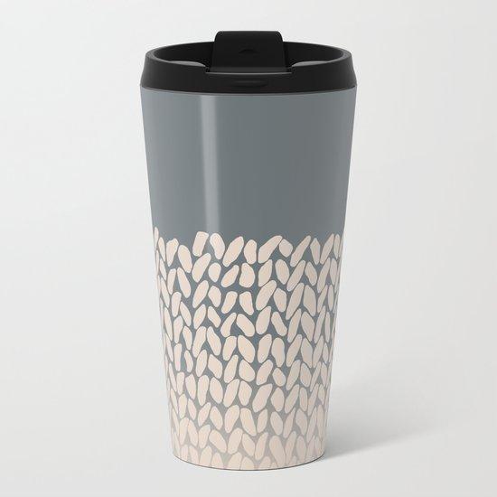 Half Knit Ombre Nat Metal Travel Mug