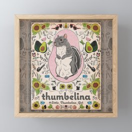 Little Thumbelina Girl: Thumb's Favorite Things in Color Framed Mini Art Print