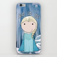 frozen elsa iPhone & iPod Skins featuring Elsa: Frozen  by Jen Talley