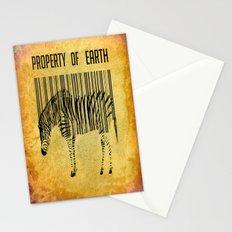 The encoded zebra Stationery Cards
