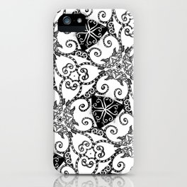 Candy Cane Tangle iPhone Case