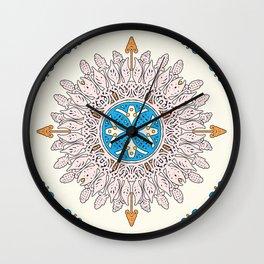 Sunny day Mandala Wall Clock