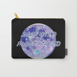Stay Wild Moon Child - purple blues Carry-All Pouch