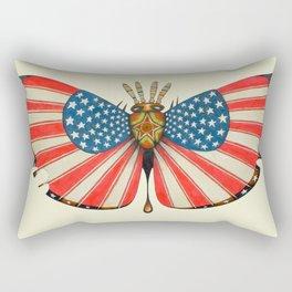 patriot moth (ORIGINAL SOLD). Rectangular Pillow