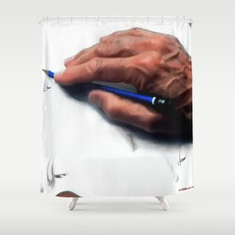 Clint Eastwood Drawing Shower Curtain