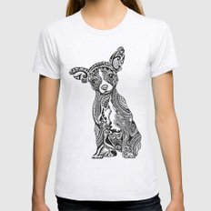 Polynesian Chihuahua Ash Grey Womens Fitted Tee SMALL