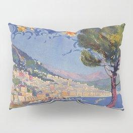 Salerno Italy vintage summer travel ad Pillow Sham