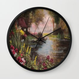 Home On The Roanoke River Wall Clock
