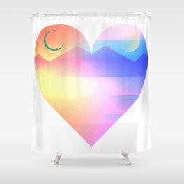 Sunset Heart Shower Curtain