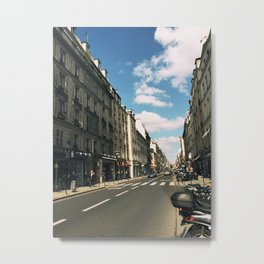 Sunny Day in Le Marais Metal Print