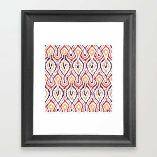 Sketchy Ikat - Nebula Framed Art Print