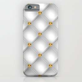 Luxury Tufted Gold Diamond 4 iPhone Case