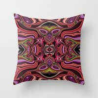 peru Throw Pillows featuring Peru by ALLY COXON