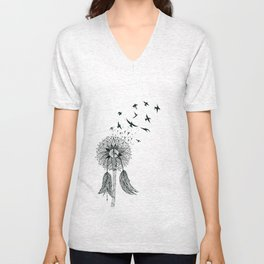 Dandelion, Let freedom flow with the wind of your dreams Unisex V-Neck