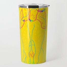 Bear & Giraffe (yellow) Travel Mug