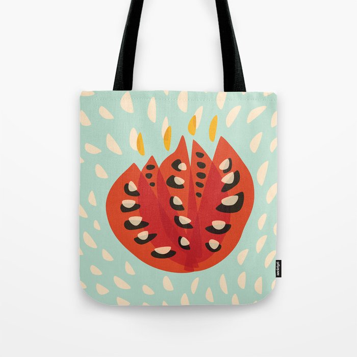 Red Abstract Tulip Tote Bag