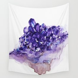 Amethyst Watercolor Wall Tapestry