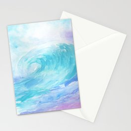 Ombre Wave Stationery Cards
