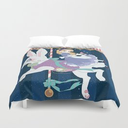 Carousel: World of My Own Duvet Cover
