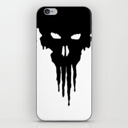 Dissolved Black Skull iPhone Skin