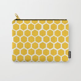 Honey-coloured Honeycombs Carry-All Pouch