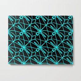 Abstract Dragonfly Designs Metal Print