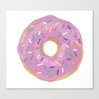 donut Canvas Prints featuring Donut by Sian Murray Art