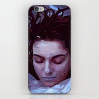 laura palmer iPhone & iPod Skins featuring Laura Palmer from Twin Peaks by Alice Teal