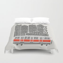 Boston City Illustration Duvet Cover