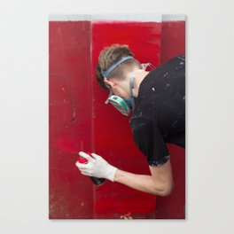 Red Graffiti Canvas Print