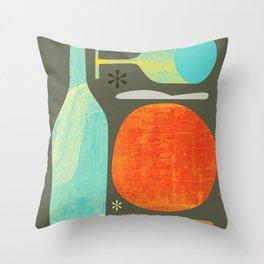 Wine & Dine Kitchen Art Throw Pillow