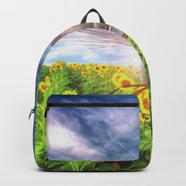 DragonFly Over Sunflowers Backpack