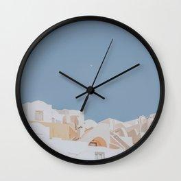 Santorini V / Greece Wall Clock