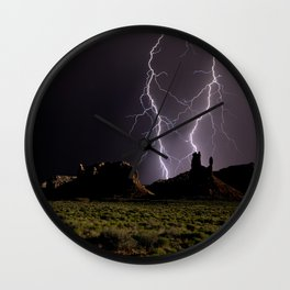Valley of the Lightning Gods Wall Clock