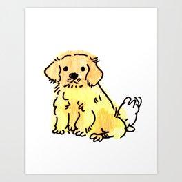Butters - Puppy Watercolour Art Print