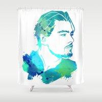 leonardo dicaprio Shower Curtains featuring DiCaprio by BIG Colours