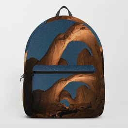 Double Arch In Arches National Park Backpack