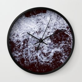 Rage - Black and White Wall Clock
