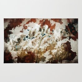 Coffee Stained Parchment Paper Rug