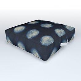 Shibori Moons Outdoor Floor Cushion