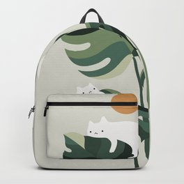 Cat and Plant 11 Backpack
