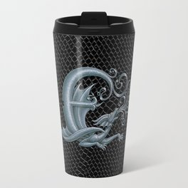 Dragon Letter E, from Dracoserific, a font full of Dragons. Travel Mug