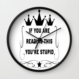 If you are reading this Wall Clock