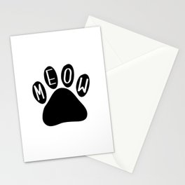 Meow Cat Paw Stationery Cards