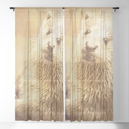 Vintage Animals - Otter Sheer Curtain