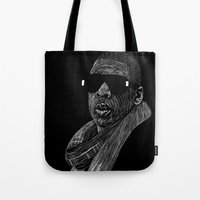jay z Tote Bags featuring Jay-Z by William