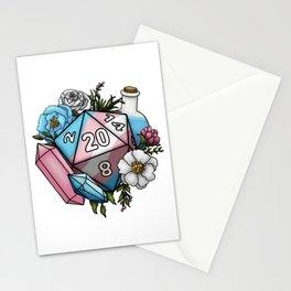 Pride Transgender D20 Tabletop RPG Gaming Dice Stationery Cards