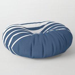 White blue striped pattern . Floor Pillow